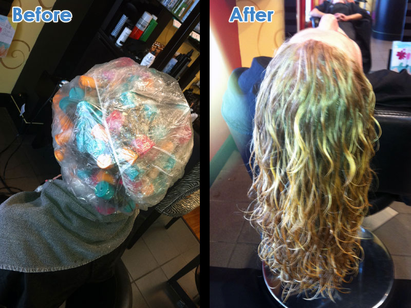 Permed Hair Before And After for Pinterest